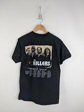 The Killers Tour Shirt Men Medium Black 2007 Band Rock Concert Dates Group