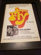 Curtis Mayfield Super Fly Rare Original Promo Poster Ad Framed! #3