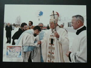 Pope John Paul II trip in Anchorage Alaska maximum card Vatican 71123