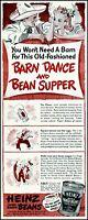 1941 Barn dance bean supper Heinz baked beans vintage art print ad adL18
