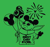 Baby Yoda BEST DAY EVER shirt Star Wars Disney Vacation Disneyland Men Men's