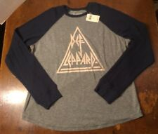 Lucky Brand - Men's Sz XL DEF LEPPARD Long Sleeve Thermal T-Shirt NWT