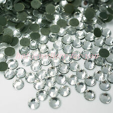 1000 GLASS HOTFIX IRON ON RHINESTONES HIGH QUALITY CRYSTAL GEMS BLING STONES