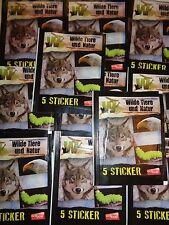 Wilde Tiere und Natur / Edibas / 25 Tüten Sticker