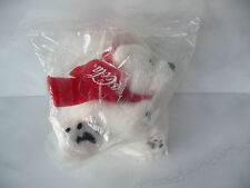 Coca Cola plush polar bear white scarf new unused rare advertising toy