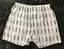 Vintage Boxer Shorts Nos 80s Fruit Of the Loom Cotton Poly Striped Sz M 34 - 36