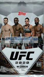 2020 TOPPS UFC FACTORY SEALED HOBBY PACK UNSEARCHED BOX BRAND NEW AUSSIE SELLER!
