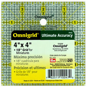 "Omnigrid 4 "" x 4 "" Ruler 1/8"" Grid 4 in Square"