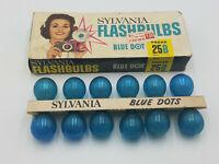 12 Pcs Sylvania 25B Flashbulbs Blue Daylight Outdoors Vintage Camera Bulb NOS
