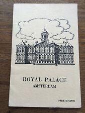 Vintage Ephemera 1950s 1953 ROYAL PALACE AMSTERDAM Guide Brochure Leaflet 12pp