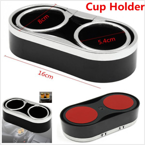 Universal 1P Car Interior Console Dual Cup Holder Drink Bottle Mount W/Top Rings