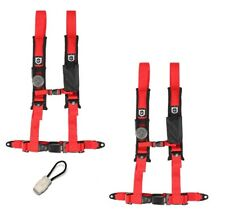 "Pro Armor Harness Pair 4 Point 2"" Red Automotive Latch Honda Pioneer"