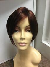 Envy EVE Synthetic Short Wig, Dark Red Bob, Lace Front Mono Top, Average
