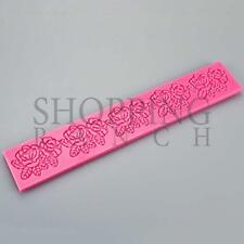 Lace Floral Rose Design Silicone Mat Mould Pretty Vintage Cake Mold