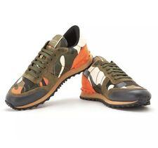 NEW Limited Run Valentino Garavani Camo Rockstud Rock Runner Sneakers Sz 42 $930