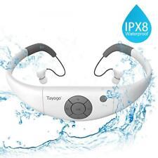 Tayogo Lettore MP3 Impermeabile Auricolari Nuoto Cuffia Piscina 8GB Disco U...