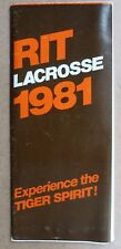 1981 RIT LACROSSE Media Guide / Brochure ROCHESTER INSTITUTE of TECHNOLOGY