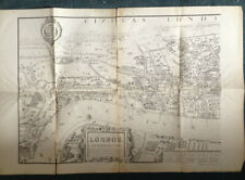 More details for  rare 3 large maps from cassell's old and new london within folder