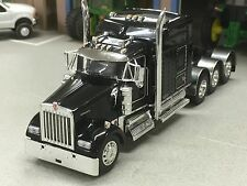 "1/64 DCP BLACK W900 KENWORTH TRI AXLE W/ 86"" AERO SLEEPER"