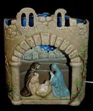 Vintage 1988 Scioto Ceramic Christmas Nativity Manager Scene Lights Up