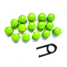 17mm Set 20 Green Car Caps Bolts Alloy Wheels For Nuts Covers ABS PC Plastic