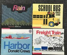 4 Donald Crews Books Rain School Bus Freight Train Harbor Paperbacks Free Ship