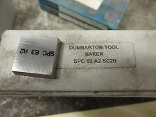 Dumbarton Tool SPC63 A2 SC20 Carbite Inserts Lot of 10 19983 ISU