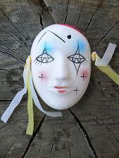 NUOVO Maschera Pierrot in porcellana da appendere 3