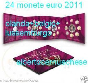 2011 Benelux 24 monete 11,64 euro Belgio Olanda Lussemburgo Belgique Netherlans