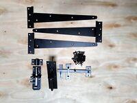 """14/"""" Pair Tee Hinge 2 Wooden Gate SUFFOLK Fitting Kit Garden Gate Set 350MM"""