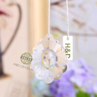 5 Clear Suncatcher Hanging Glass Crystal Chandelier Prism Feng Shui Pendant 50mm