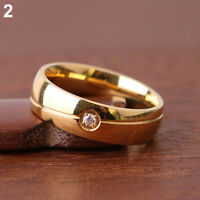 EG _ homme femme mode strass TITANE Bracelet Acier Bague de fiançailles mariage