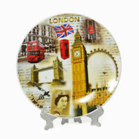 London Porcelain Plate 15 CM, Souvenir England, Queen, Big Ben