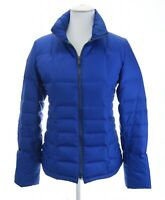 Talbots Sz S Blue Duck Down Puffer Coat Jacket Full Zip Up Collared Womens