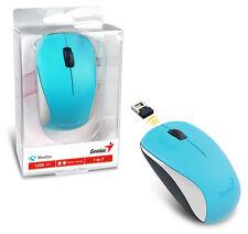 Genius NX-7000 Wireless Mouse BlueEye Sensor Customize For Best Performance BLUE