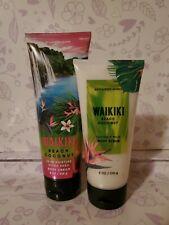 Bath & Body Works GIFT Set WAIKIKI BEACH COCONUT ~ Body Scrub  w FREE Shipping