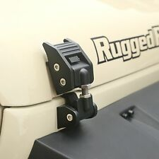 Rugged Ridge Jeep Wrangler JK 07-17 Aluminum Hood Catch Pair Textured Black