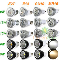 MR16/E27/GU10/E14 6W 9W 12W 15W LED Faretti Lampada Spot Luci Lampadina Bulb