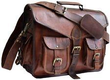 Leather Bag Vintage Messenger Shoulder  Satchel S Laptop School Business