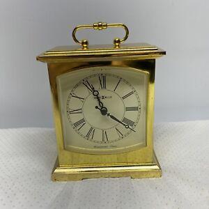 Howard Miller Westminster Chime Gold Mini Shelf Clock Tested/Works