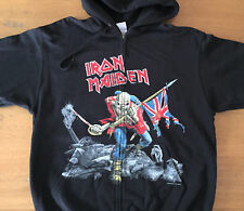 IRON MAIDEN Scuffed Trooper Zip Sweat Shirt Size XL -New- Official merchandising
