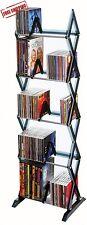 DVD Shelf Storage CD Rack Tower Organizer Multimedia Stand Shelves Holder Black