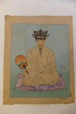 Les vieux manuscrits, Corée, Séoul, estampe japonaise, Paul Jacoulet, vers 1930