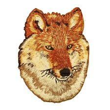 Red Wolf Patch Cool Coyote Endangered Wild Animal Craft Apparel Iron-On Applique