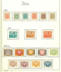 Stamps.   Poland. mixture on 4 Pages inc Postage Dues