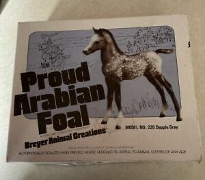 Breyer Proud Arabian Foal,  #220 Dapple Gray with Original Box