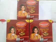 Wagh Bakri Masala Tea Bags 100 x 3 BOXES (300) Indian Special Blend Staple Free