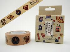 Japanese culture washi tape! Daruma dolls, ramen, fans, folk toys, planner tape