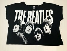 The Beatles Apple Corps T-Shirt Women's Size XXL 2012 Cropped Black