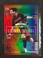 2015-16 Panini WCCF Player of the Year Lionel Messi refractor card Barcelona